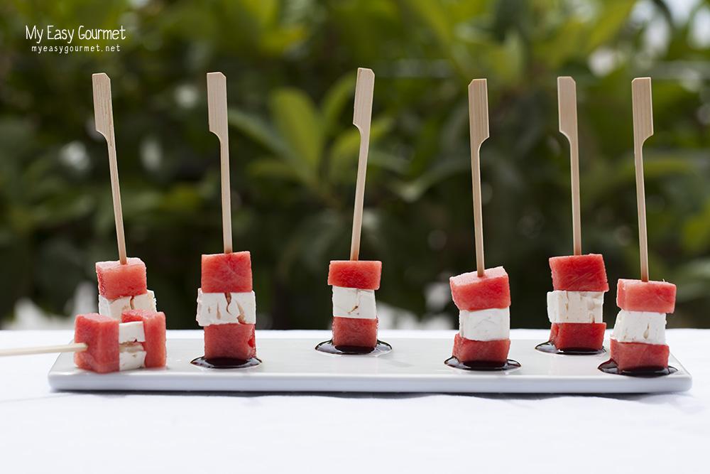 Watermelon Feta Cubes - A salty sweet appetiser
