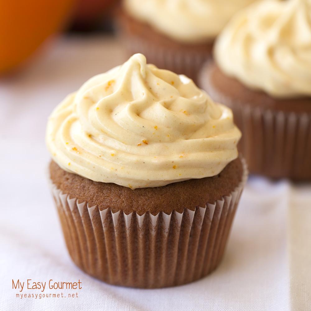 Choco orange cupcakes