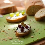 Grapes and Feta Crostini