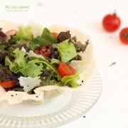 Avocado Salad in Parmesan Nest