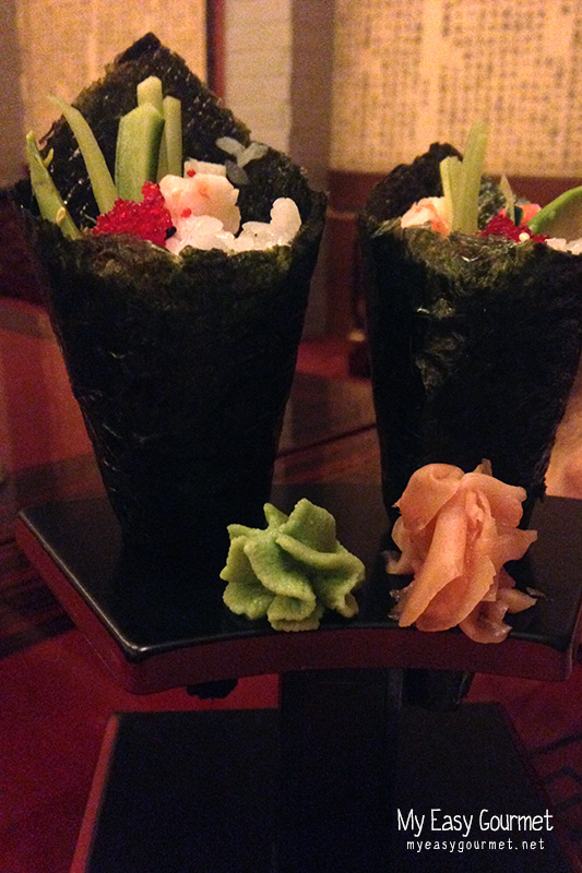 Shrimp Temaki at Dosirak Restaurant