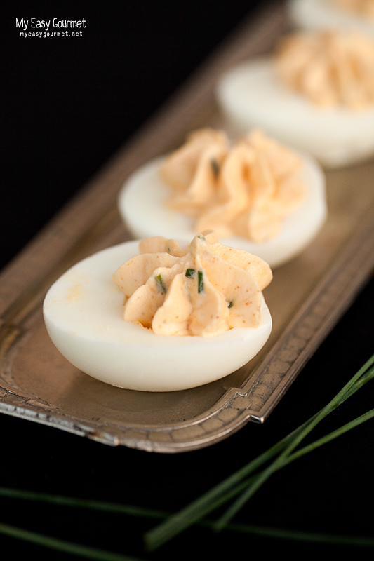 Bottarga Deviled Eggs