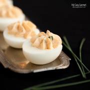 Bottarga Deviled Eggs