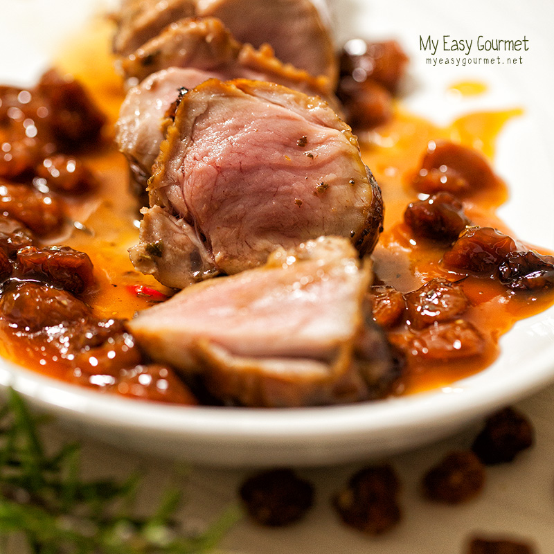 Pork Tenderloin with Golden berry sauce