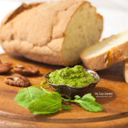 Arugula pesto with pecans