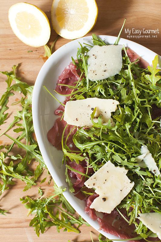 Carpaccio Arugula salad