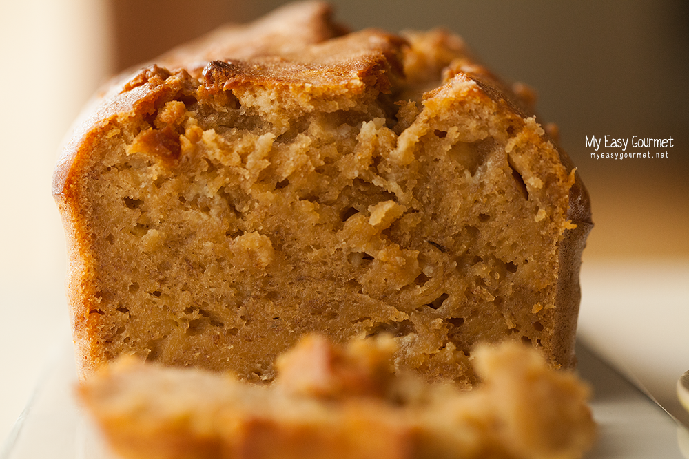 Banana Bread with Milk Caramel and White Chocolate Chips