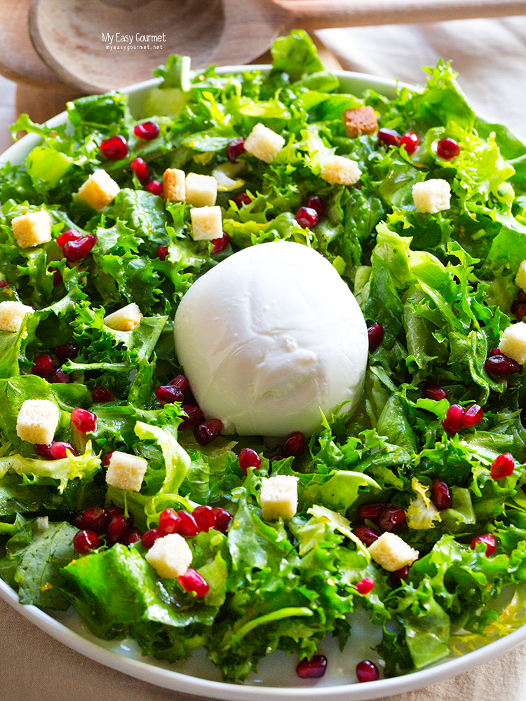 Mozzarella salad with citrusy vinaigrette