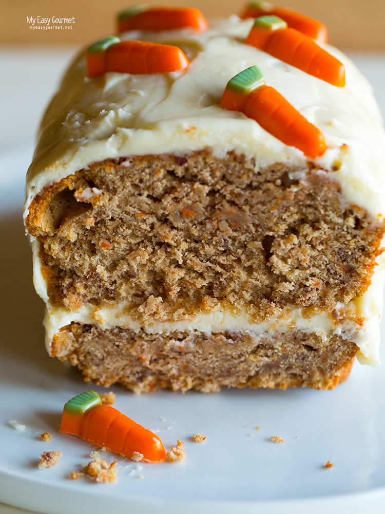 Layered carrot cake with cream cheese frosting