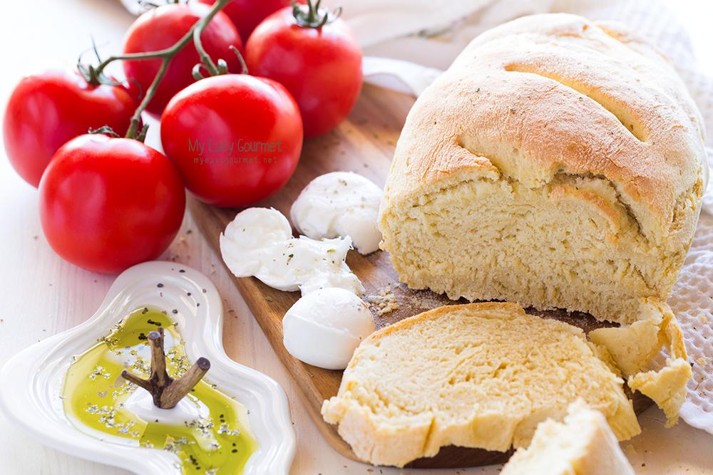 Easy recipe for homemade bread