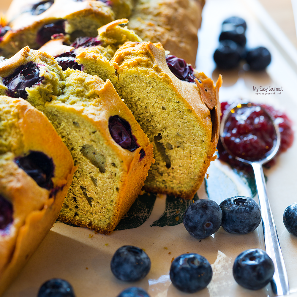 Healthy Matcha - Blueberry Cake