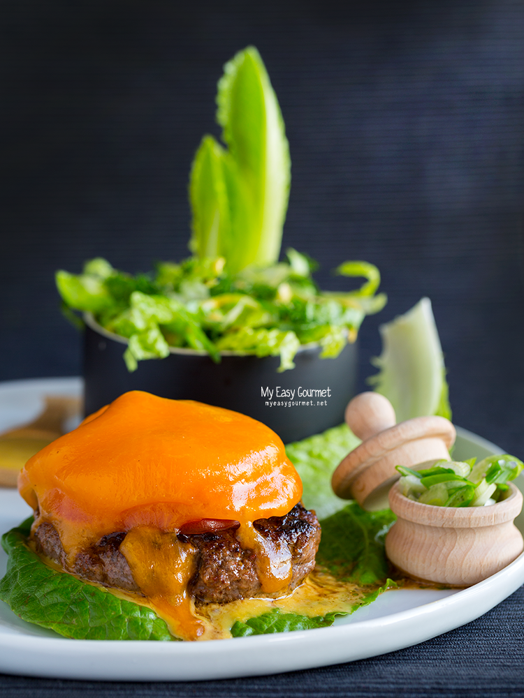 Black Angus Naked Burger with Double Cheddar melt