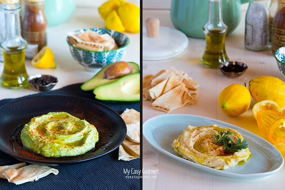 Hummus Spread Two Ways: Classic and Avocado