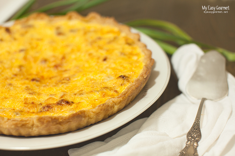 BLT Quiche pie