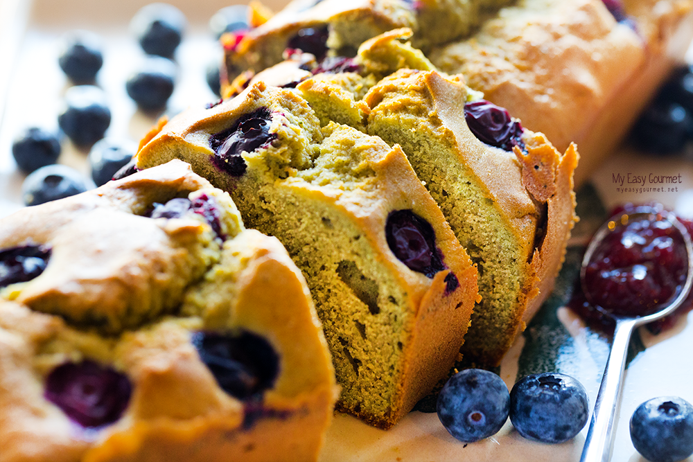 Healthy Matcha - Blueberry Cake