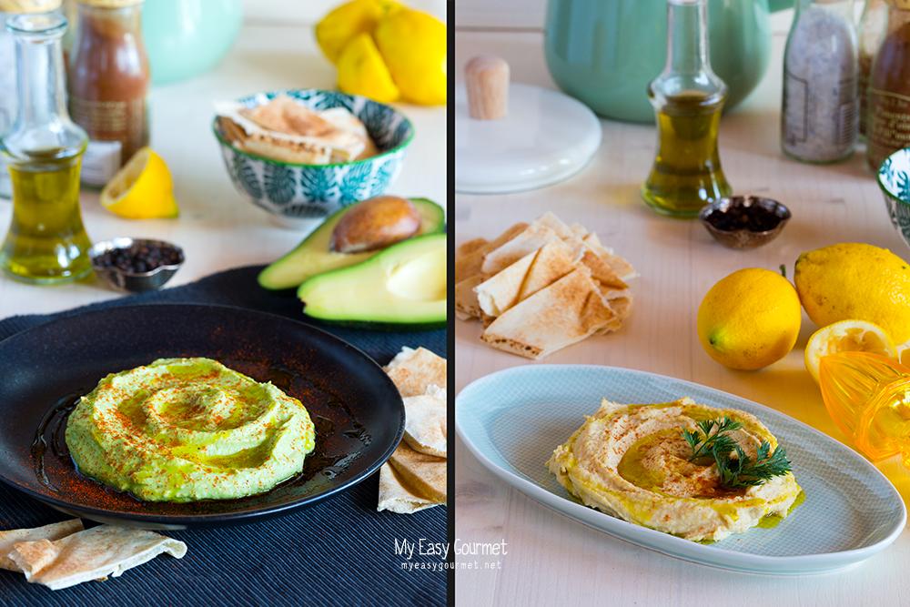 Hummus Spread Two Ways: Classic and Avocado